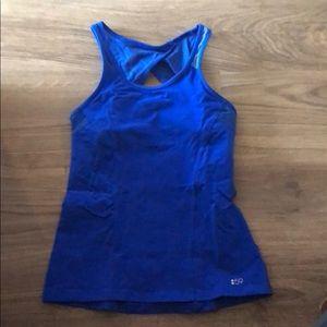 Blue Splits59 Workout Top